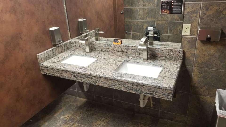 Harley womens bathroom